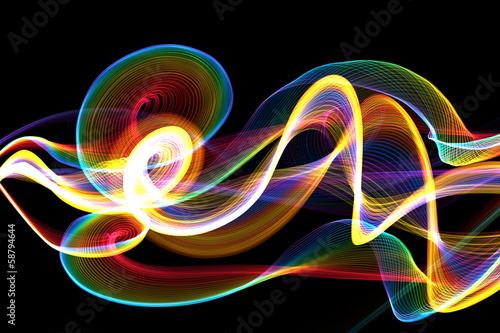 Fotobehang Abstract wave Digitale Wellenform