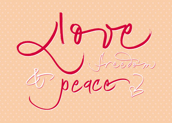 Hand-written calligraphic new year wishes. EPS vector file.