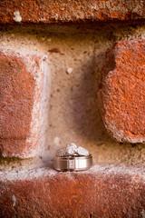 Wedding Rings and Brick