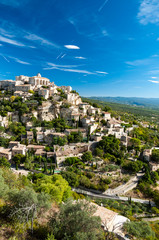 Great view of Gordes village and sorroundings in France