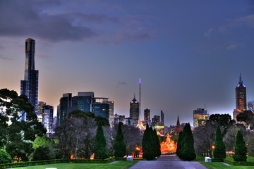 The city of Melbourne, Australia