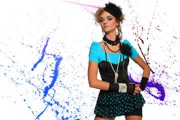 Fashion woman 80's style