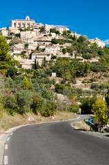 Street leading to Gordes village in France