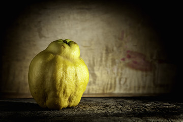 quinces on wood