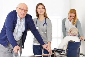 Nursing service for senior couple at home