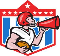 American Football Quarterback Bullhorn Cartoon