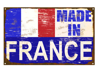 Made In France Enamel Sign