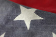 fabric USA flag close up
