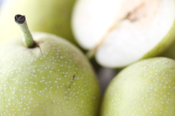close up fresh pears