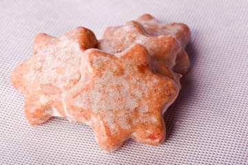 homemade christmas cinnamon star cookies