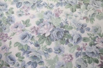 vintage blue rose fabric