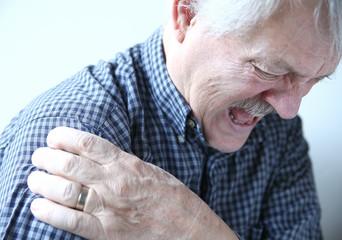 shoulder joint pain in older man