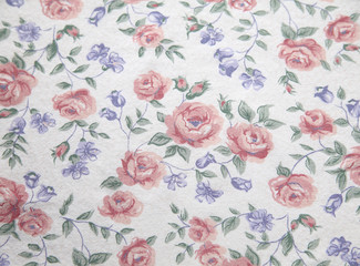 vintage rose print from the 70s