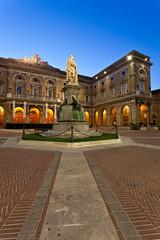 Recanati, Piazza Giacomo Leopardi al crepuscolo