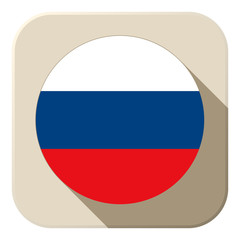 Russia Flag Button Icon Modern