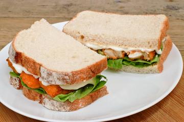 Fish Finger Sandwich on a plate