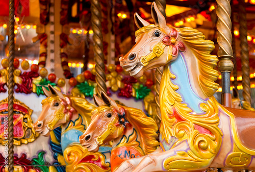 Foto op Canvas Carnaval traditional funfair