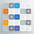 Infographics Vector Background Grid Layout