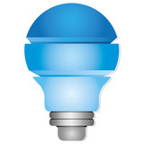 blue light bulb diagram