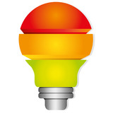 colorful light bulb diagram