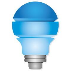 blue light bulb diagram