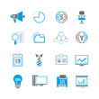 office and business icon set, blue theme