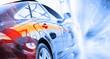 Leinwanddruck Bild - Rear view of luxury car