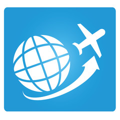 travel, globe and plane