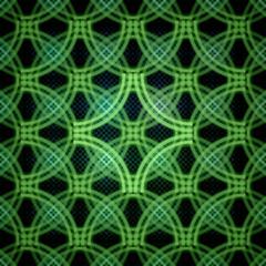 Seamless geometric circle pattern, colorful fractal texture