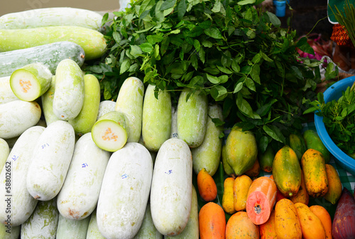 Various Vegetables in Street Market