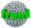 Trend Word Hashtag Tag Number Sign 3D Sphere
