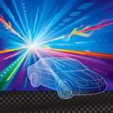 Car speed motion abstract background.