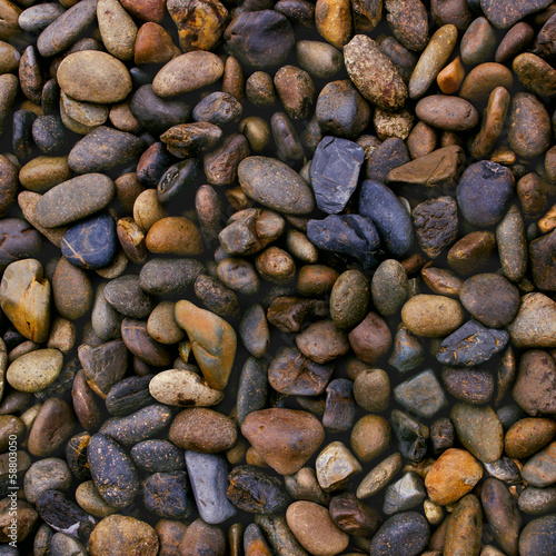 wet river stones background