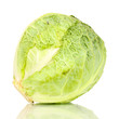 fresh cabbage isolated on white