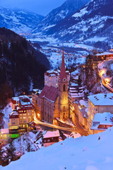 Mountains ski resort Bad Gastein Austria