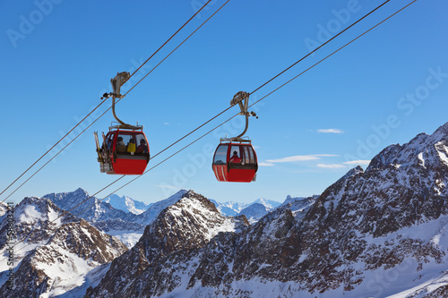 Mountains ski resort - Innsbruck Austria