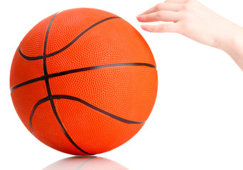 Basketball isolated on white