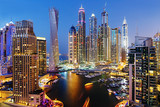 A view of Dubai Marina at Dusk from the top