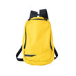 Yellow backpack isolated with path