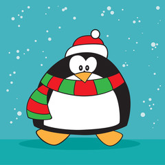Silly christmas penguin