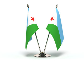 Miniature Flag of Djibouti
