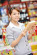 chinese woman shopping food