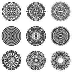 Oriental radial patterns set