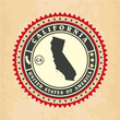 Vintage label-sticker cards of California