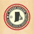 Vintage label-sticker cards of Rhode Island