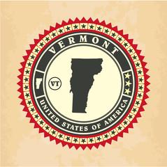 Vintage label-sticker cards of Vermont