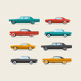 Vintage cars illustration vector design.
