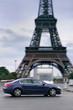 Taxi in Paris am Eifelturm