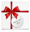 Schleife Geschenk happy new year