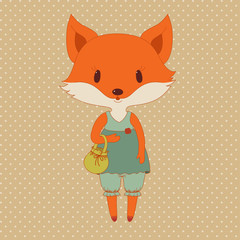 Retro fashion fox